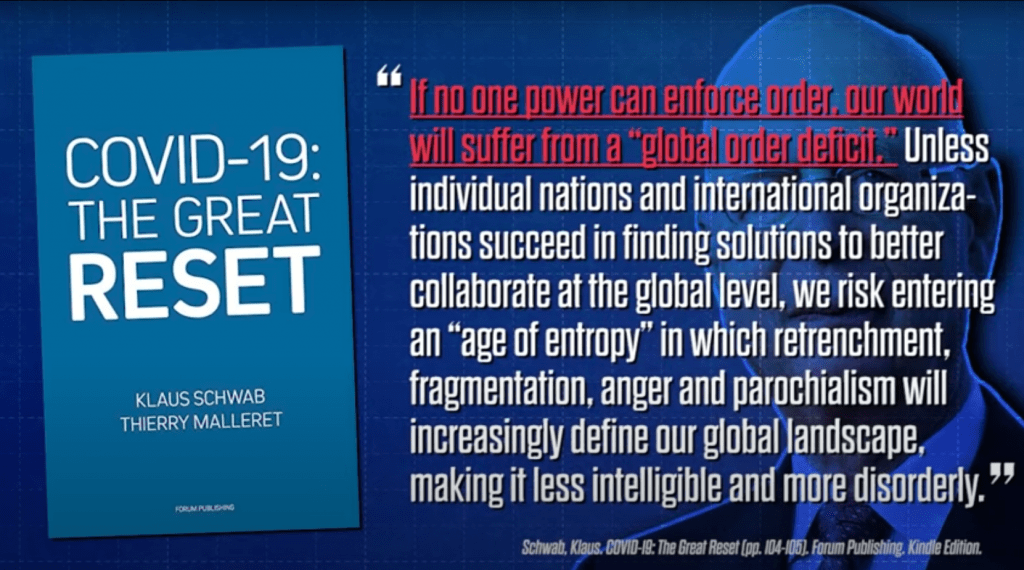 a quote from klaus schwabs book covid-19: the great reset