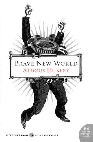 a photo of aldous huxleys book brave new world