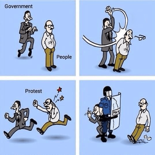a meme about government hypocrisy