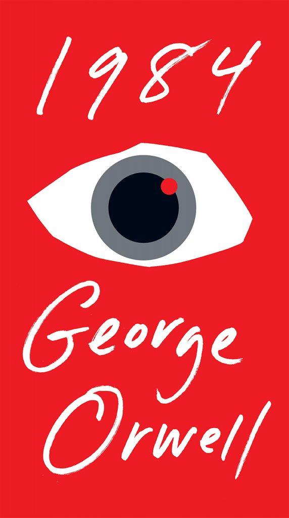 a photo of george orwells book 1984