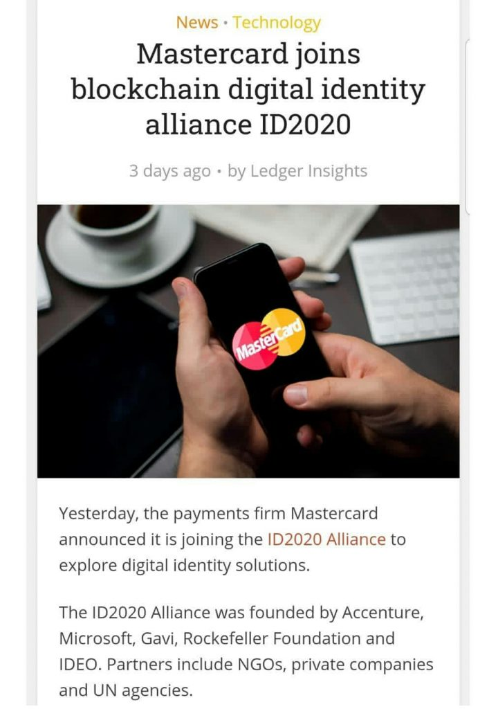 mastercard joins ID 2020